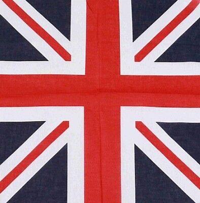 Union Jack Flag Bandana Head/Wrist Scarf Neckerchief Head Wrist Uk Seller 2