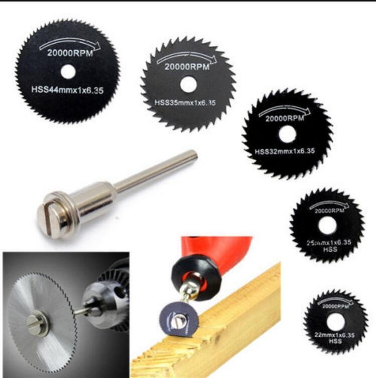 6X Hss Saw Disc Kit For Mini Drill Rotary Tool Cutting Wheel Discs Blade 22-50Mm 3