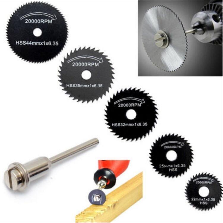 6X Hss Saw Disc Kit For Mini Drill Rotary Tool Cutting Wheel Discs Blade 22-50Mm 4