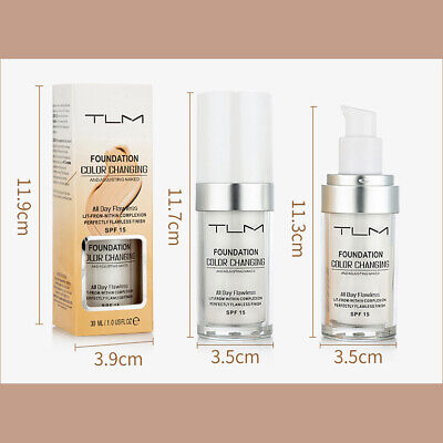 TLM Pro Classic Colour Changing Foundation Magic Flawless Concealer Makeup 30ml 5