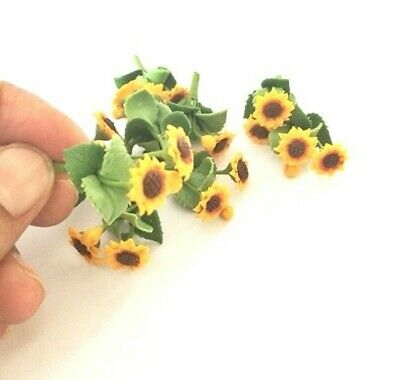 6x Sunflower Flowers Artificial Clay Miniature Dollhouse Collectibles Decor #005 2