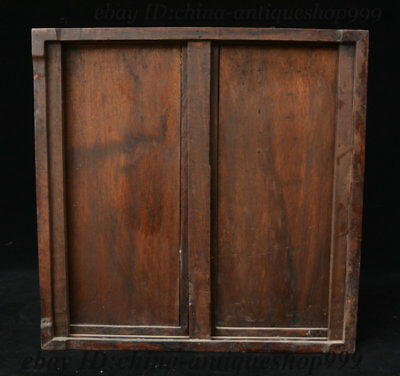 "13"" Old China Huali Wood Cupboard cabinet sark Table Tea-Things Teapoy End table 12"