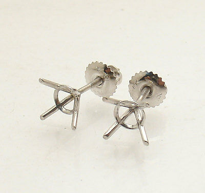 2 Of 4 G Martini Round Diamond Stud Earrings Settings Mountings 14k White Gold