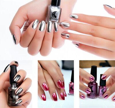 Magic Nail Polish Mirror Effect Chrome Metallic Metal Nail Art Polish Varnish 5