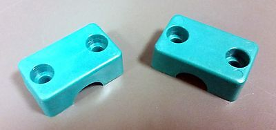 """Lot of 10 pairs Polypropylene Pipe//Tubes Clamps Green Insulators OD 1//2/"""""""