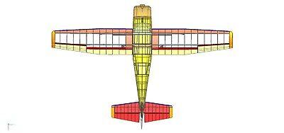 Neu CAD Bauplan Cessna 206   Spannweite 306cm