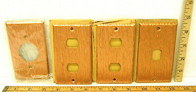 8 Heavy Duty Antique Grained Copper Plate Metal Switch Phone Toggle Covers Wall 2