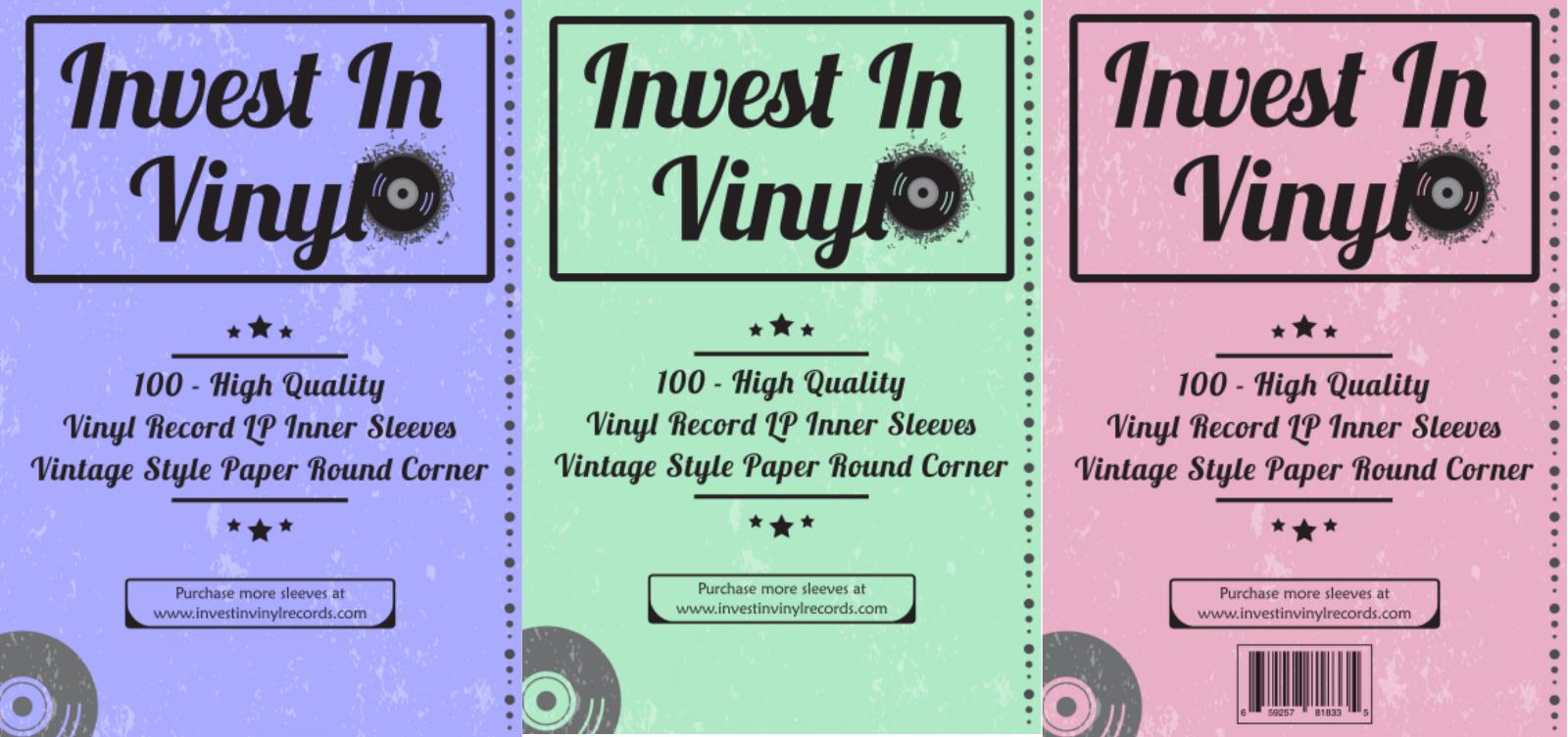 """100 LP Vinyl Record Inner Sleeves Heavy Stock Ivory White Paper 12"""" 33 RPM 2"""