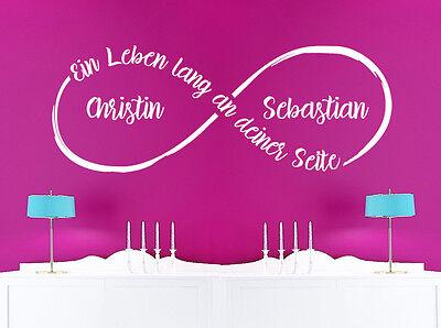 Dekoration Ein Leben Lang Unendlichkeit Hochzeit Deko Schlafzimmer Wandaufkleber Wandtattoo Mobel Wohnen Blowmind Com Br
