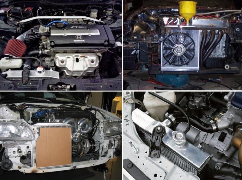 2 Reihe Aluminium Wasser Kühler für 1992-2000 Honda Civic EK EG DEL SOL 1993 3