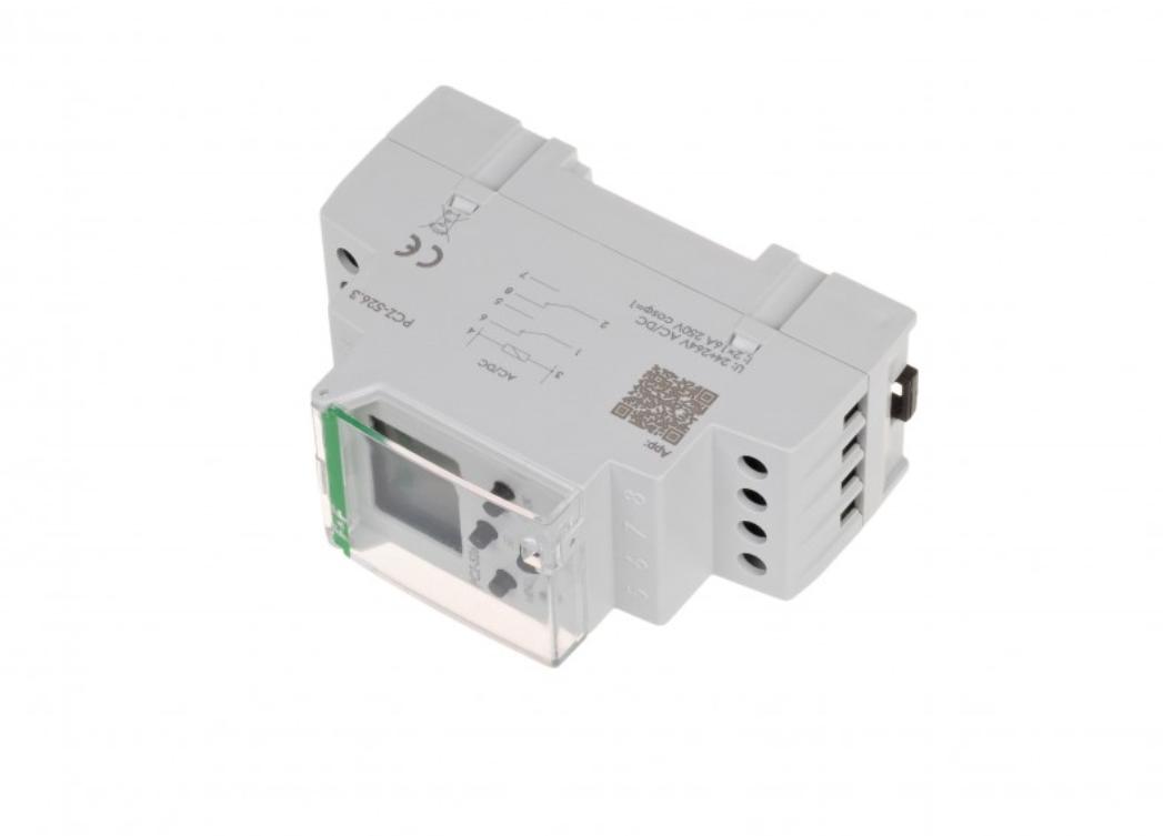 F&F PCZ-526.3 DIGITALE ASTRONOMISCHE ZEITSCHALTUHR NFC 24V ÷ 264V AC / DC 2x 16A 3