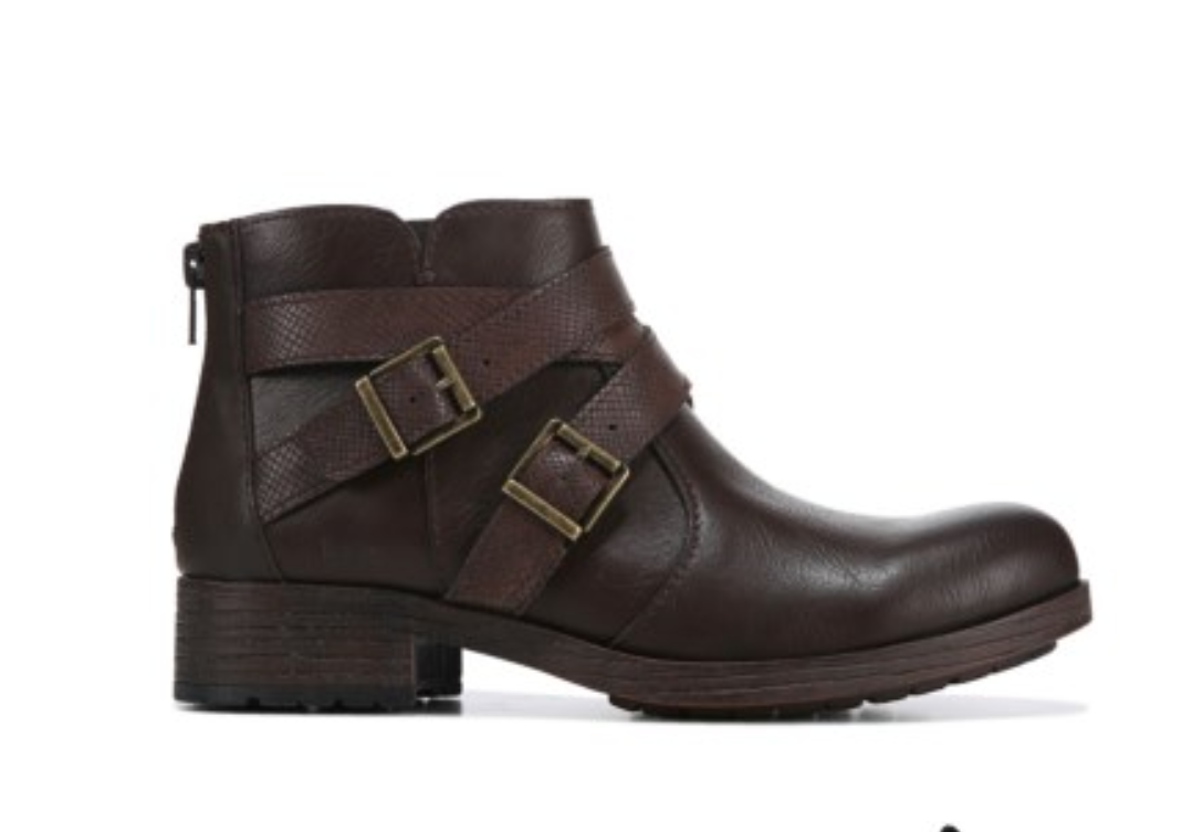 CAYUGA ANKLE BOOTS ZIP SIDES WOMENS 6 Z20423 BROWN NEW BORN B.O.C
