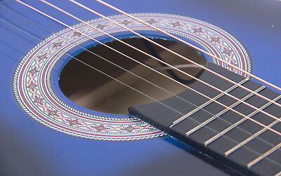 Electric Acoustic Guitar Cutaway Design With Guitar Case, Strap  Blue New 2