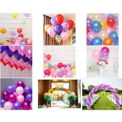 100Pcs Colorful Pearl Latex Balloon Celebration Party Wedding Birthday 10 inch 12