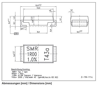 Isabellenhütte SMR-R270//050 Präzisionswiderstand 270mΩ 5 x 50m Ohm 1/% 5Watt