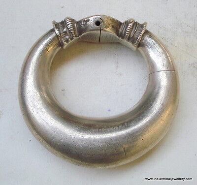 Vintage antique collectible tribal old silver bracelet bangle ECL rajasthan indi