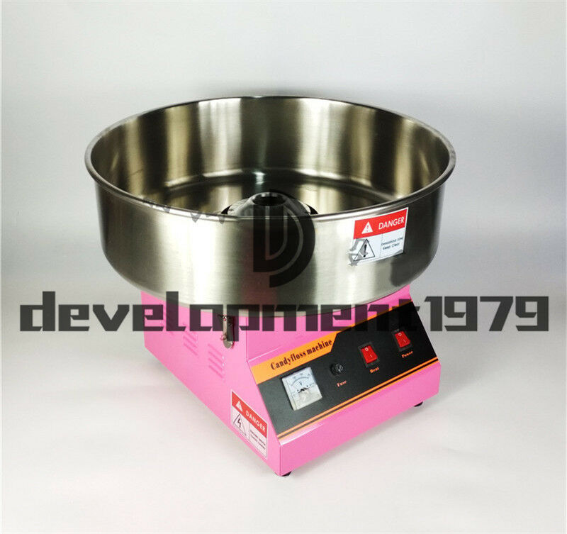 Commercial Electric ET-MF03 Automatic Cotton Candy Machine 220V 1080W 2
