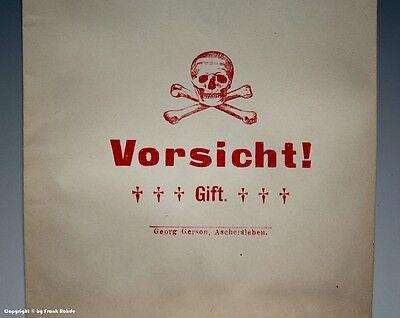 20 x Tüten Vorsicht! Gift mit Totenkopf um 1900 8