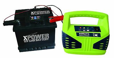 12 Volt 4 Amp Car Battery Charger up to 1.2L Van Boat Bike Motorhome LED Compact 2