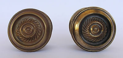 Vintage Pair Of Brass Handle/knobs 4