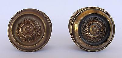Vintage Pair Of Brass Handle/knobs 4