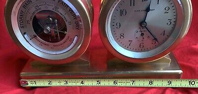 Antique Chelsea Clock Co barometer/timepiece desk clock Princeton President 1927 11