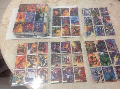 Vintage marvel cards FLAIR rare card lot xmen spiderman signature superman dc