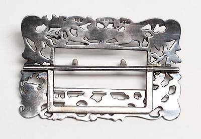 Antique Art Nouveau Gorham 925 Sterling Silver Cupid Belt Buckle Repoussé 1896 5