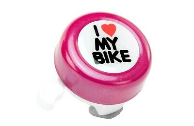 `I LOVE MY BIKE` BICYCLE BELL Hand Ring Horn Mountain Kids Road 5 Colors #P6A