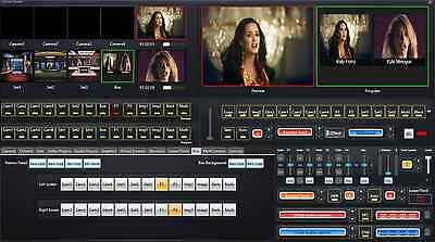VIDEO LIVE BROADCASTING Software Chroma key Virtual Sets Switcher live  streaming