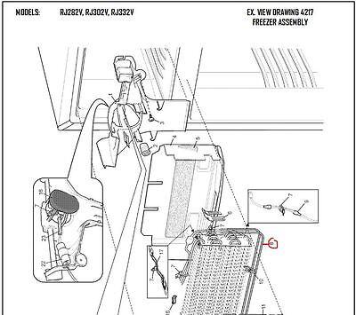 1440999 Genuine Westinghouse,kelvinator Fridge Defrost Heater 4