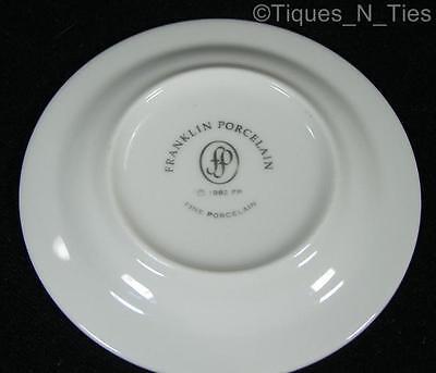 Beautiful Franklin Porcelain Pheasant Bird Green Miniature Butter Pat Plate (FF)