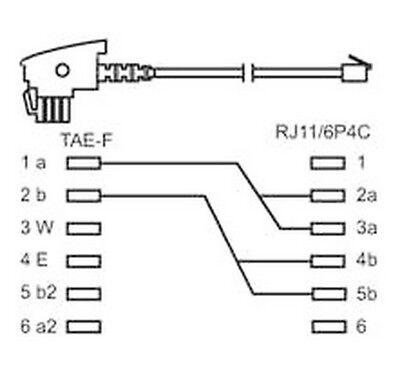 Bevorzugt 10 M TELEFON-KABEL; TAE F auf RJ11/RJ14 Stecker 4-polig YN24