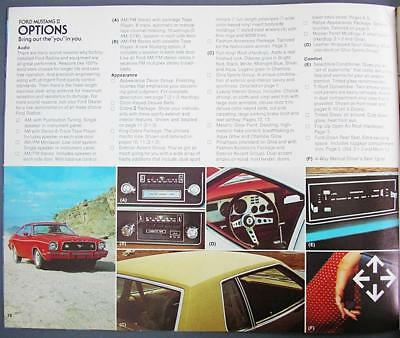 Original Vintage 1978 Ford Mustang II Dealer Sales Brochure Six Models Included