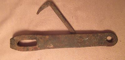 large antique 18th century hand wrought iron door swing hook lock hardware 7