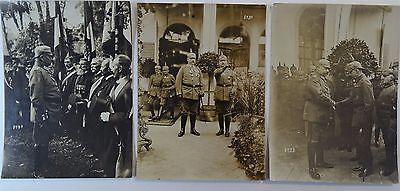 RARE Orig Photo LOT WWI German Soldier Hindenburg 1916 Ludendorff Kaiser Wilhelm 7