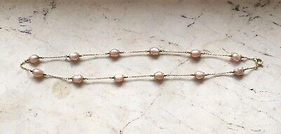 Perlenkette- mit echt Gold 3