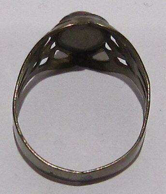 VINTAGE NICE BRONZE RING WITH RED STONE FROM THE EARLY 20th CENTURY # 66A 6