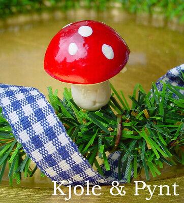 0,15€//St 15 Golden Mushrooms Trocken Pilze perlmutt weiß Advent Weihnacht 4-8cm