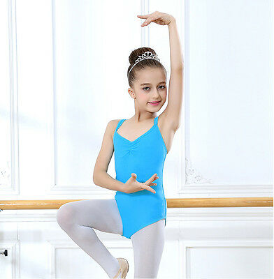 cc528bdb4 KIDS CHILD GIRL Dance Leotard Stretch Bodysuit Ballet Training Dress ...