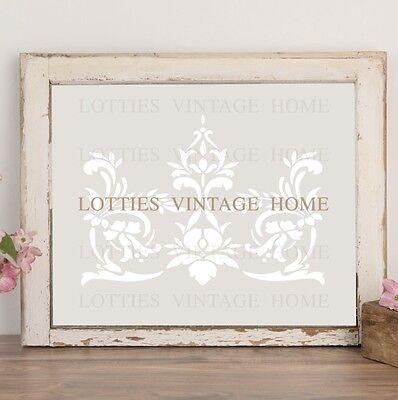 A4 STENCIL FLORAL SCROLL FLOURISH  Furniture Vintage ❤ Shabby Chic 190 MYLAR