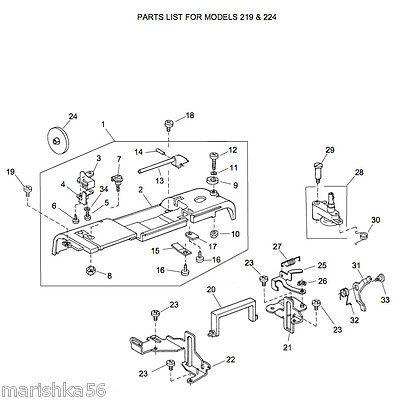 HUSQVARNA VIKING HUSKYSTAR 40 40 Service Manual Parts Impressive Huskystar 219 Sewing Machine