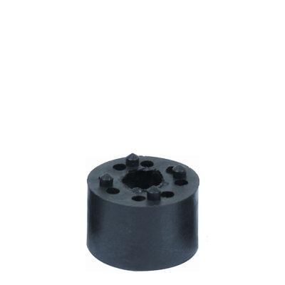 Distanzhülse Abstandshalter Abstandshülse Kunststoffhülse schwarz M8x25x12,5