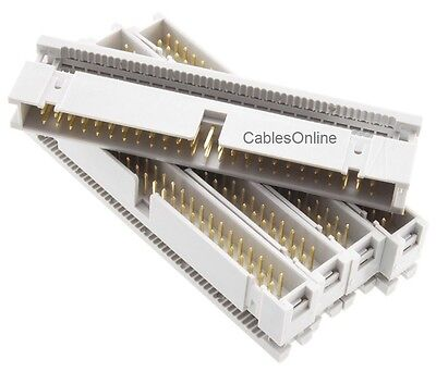 2x25 2-Pack 50-Pin FC-150-2 Male IDC Flat Ribbon Cable Box Header Connectors