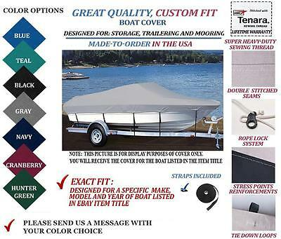 CUSTOM FIT BOAT Cover Lund 1700 Angler Ss Side Console Ptm O