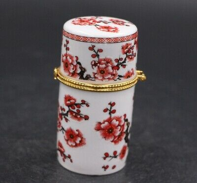 Chinese Porcelain plum blossom Toothpick Box Holder Storage Lucky Jewelry Box 2