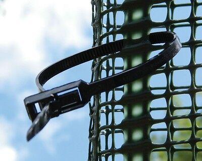 20x Kabelbinder wiederverschließbar 4mm x 250 mm f Befestigung Baumschutzgitter