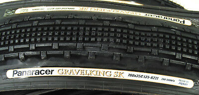 2-PACK Panaracer GravelKing SK 700 x 35 Bike Gravel King CX Folding Tire PAIR