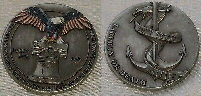 LIBERTY Bell Silver Coin Eagle Anchor Snake 3D Antique Americana Pennsylvania US 3