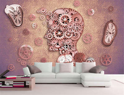 Concise Smart Brain 3D Full Wall Mural Photo Wallpaper Printing Home Kids Decor